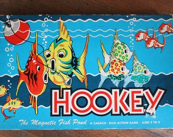 Vintage Fishing Board Game - Hookey - COMPLETE (Cadaco-Ellis, 1955)