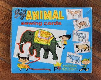 Vintage Game - Big Animal Sewing Cards (Parker Brothers Inc. - 1956)