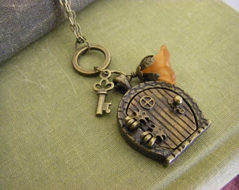 Hobbit Door Locket Necklace