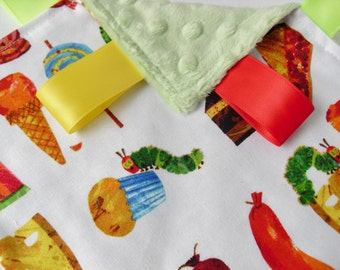 Taggie Very Hungry Caterpillar Fabric - Choose your Minky Colour