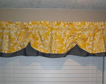 Valance Window Curtain Swagged Swag Custom Made Bathroom