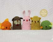 Finger Puppet Pet animal set