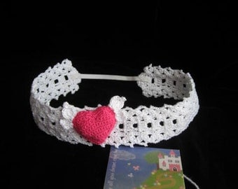 Baby Headband Crochet Girls Headbands Lace Headband Baby Headbands Heart Headband Baby Headband baby Girl Headbands Baby Girl Headband