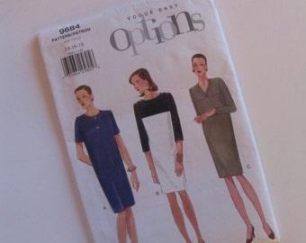 Uncut Vogue 9684 Sewing Pattern - Misses Petite Dress - Size 14-18