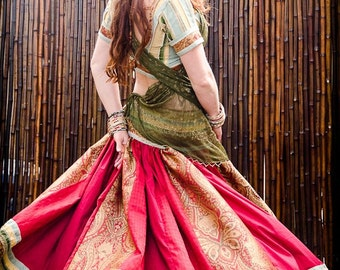 Indian Ethnic Dancing Skirt - Regal Red