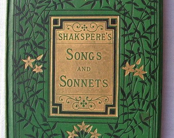 Rare 1880s Shakspere's Songs And Sonnets The Choice Series Illustrated by John Gilbert