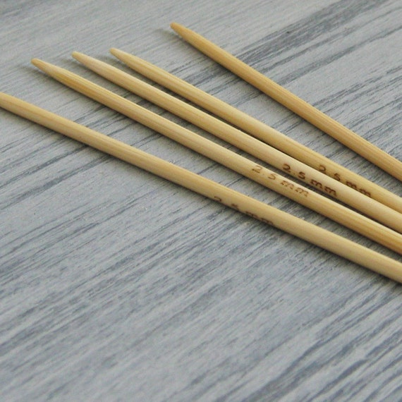 Knitting Needles Mm : Mm dpns set of five bamboo knitting by justadaydream