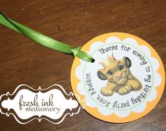 Simba from Lion King Personalized Tags