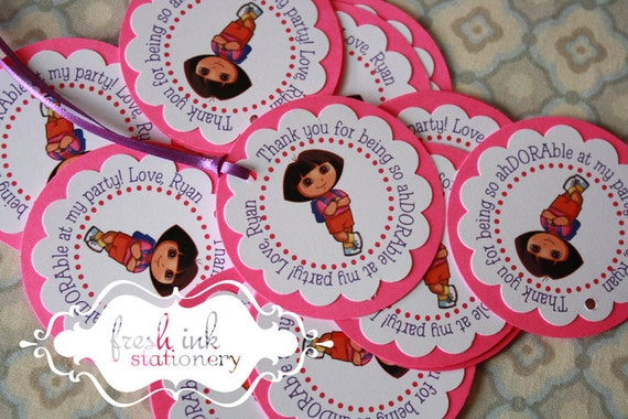 Personalized Dora Favor Tags