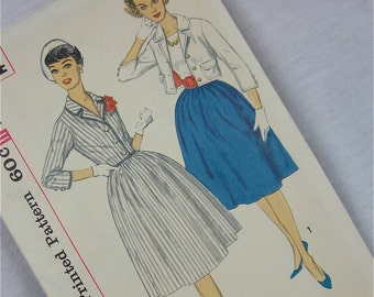 Vintage 50s, 60s Skirt and Jacket Sewing Pattern, Simplicity, 3304