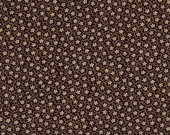 Floral Fabric, Waterford by Blank Quilting, Chocolate Brown Fabric, Brown Flowers, Brown Floral Fabric, 1 Yard Of Fabric, 01250