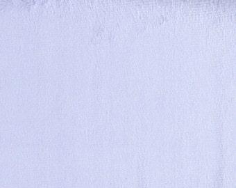 Lavender Purple Minky, Smooth Minky, Solid Purple Minky, Soft Fabric, 1 Yard Fabric, 01270
