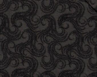 Fat Quarter, Dark Grey Fabric, Floral Fabric, Black and Grey Fabric, Grey Fabric, Grey Floral Fabric, 01394