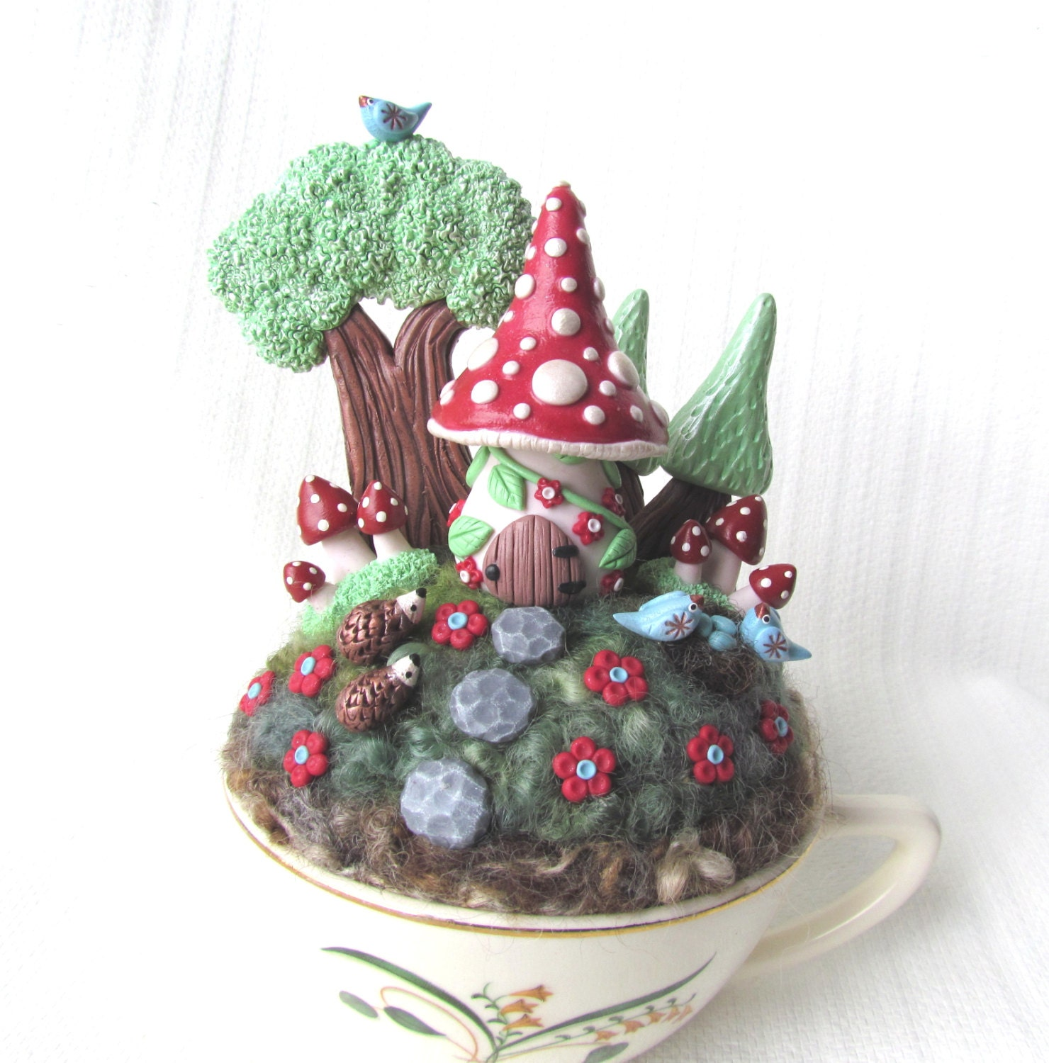 Garden Gnomes On Sale: Sale 28.00 Was 35.00 / Fairy Gnome House Garden In A Cup
