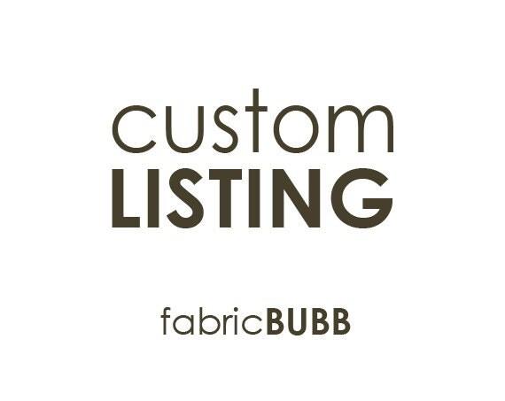 Custom Listing for Lais