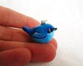 Blue Bird Necklace, Animal Totem Jewelry