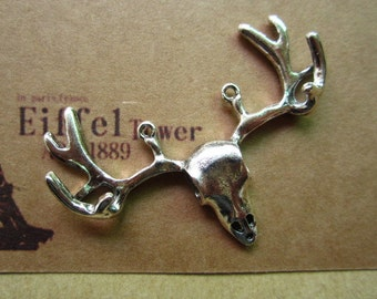 10pcs 55x39mm antique silver deer animal charms pendant C5738