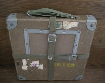 Vintage Film Mailing Case - Industrial Storage Container