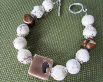 Chunky Brown and Tan Bracelet
