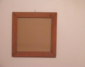 "12 1/4 X 12 1/4"" Vintage Red Barnwood  Photo Frame"