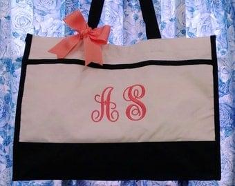 Personalized Tote Bag Bride Bridesmaids Custom Monogram