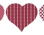 Modern Cross Stitch Kit 'Hearts' Needlecraft heart kit - Choose your colors