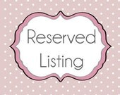 Reserved Listing for cynthiadejesus