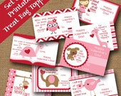 Valentine Treat Bag Toppers | Kids School Valentines | DIY PRINTABLE | Christian, Scripture, Bible Verse Card for Girls | Instant Download