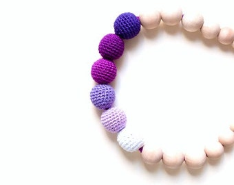 Purples Nursing/Teething Necklace by SimplyaCircle-Breastfeeding Necklace-Eco-Friendly-Mother's day