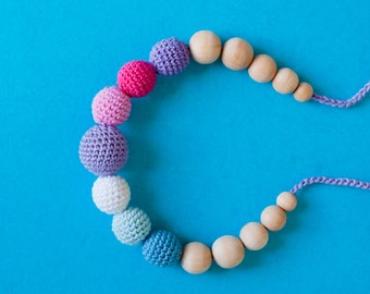 Nursing Necklace/Teething Necklace by SimplyaCircle-Breastfeeding Necklace-Mother's day