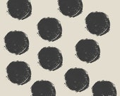 Dots Art Print, Graphic Design Poster, Abstract Art, Modern Art, Minimalist Art Print - Grey and Black
