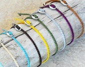 Wish bracelet, friendship bracelet, karma bracelet - Waxed polyester cord