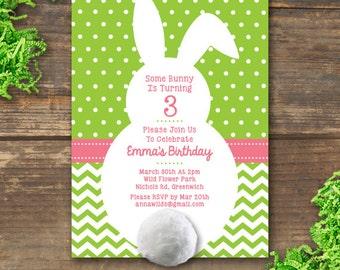 Bunny Party Invitation Printable