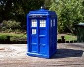 Ceramic TARDIS Police Box Ornament