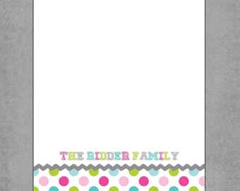 Polka Dots Notepads 5x7 Personalized - Set of 2