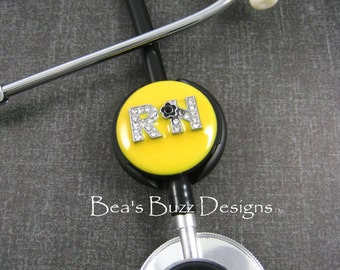 CANARY - RN - Stethoscope - Stethoscope Id - Stethoscope Id Tag - Stethoscope Jewelry - Stethoscope Name Tag - Stethoscope Cover