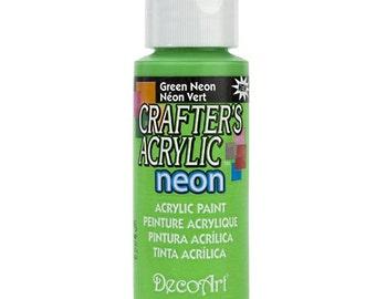 Neon Green Acrylic Paint (2oz)