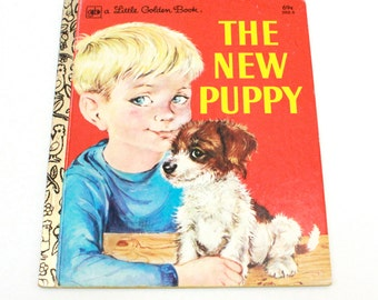 Little Golden Book, The New Puppy, Vintage 1979