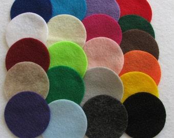 50 Pre Cut Felt Circles - 5 inches - you choose colors
