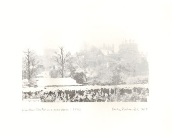 Windsor Castle in a snowstorm - limited edition silkscreen print