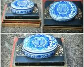 Vintage Ceramic Oriental Keepsake Box