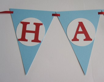 Circus Pennant ~ Airplane Pennant ~ Car Pennant ~ Birthday Banner