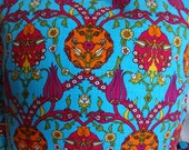 NEW - Pillow with classical Turkish/Ottoman design -  16 x 16 in. - TURQUOISE