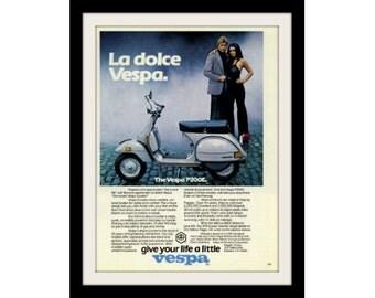 "1979 VESPA Moped Scooter Ad ""La Dolce"" Vintage Advertisement Print"