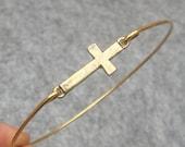 Cross Bangle Bracelet Style 4