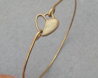 Heart Bangle Bracelet Style 18