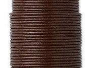 Leather Cord, Brown, 1mm - 5 Yards (15 feet)