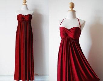 Bridesmaid Dresses, Burgundy Bridesmaid Prom Dress, Bridesmaid Dresses, Prom Dress