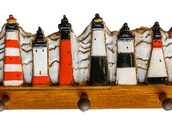 Lighthouse Decor Coat Rack