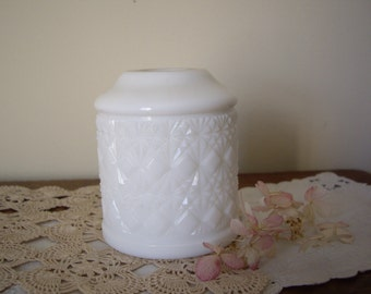 Vintage Milk Glass Fairy Lamp Candle